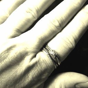 David Yurman X Collection Ring Diamonds Silver